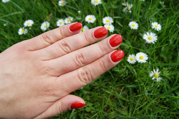 czerwony lakier hybrydowy z Aliexpress