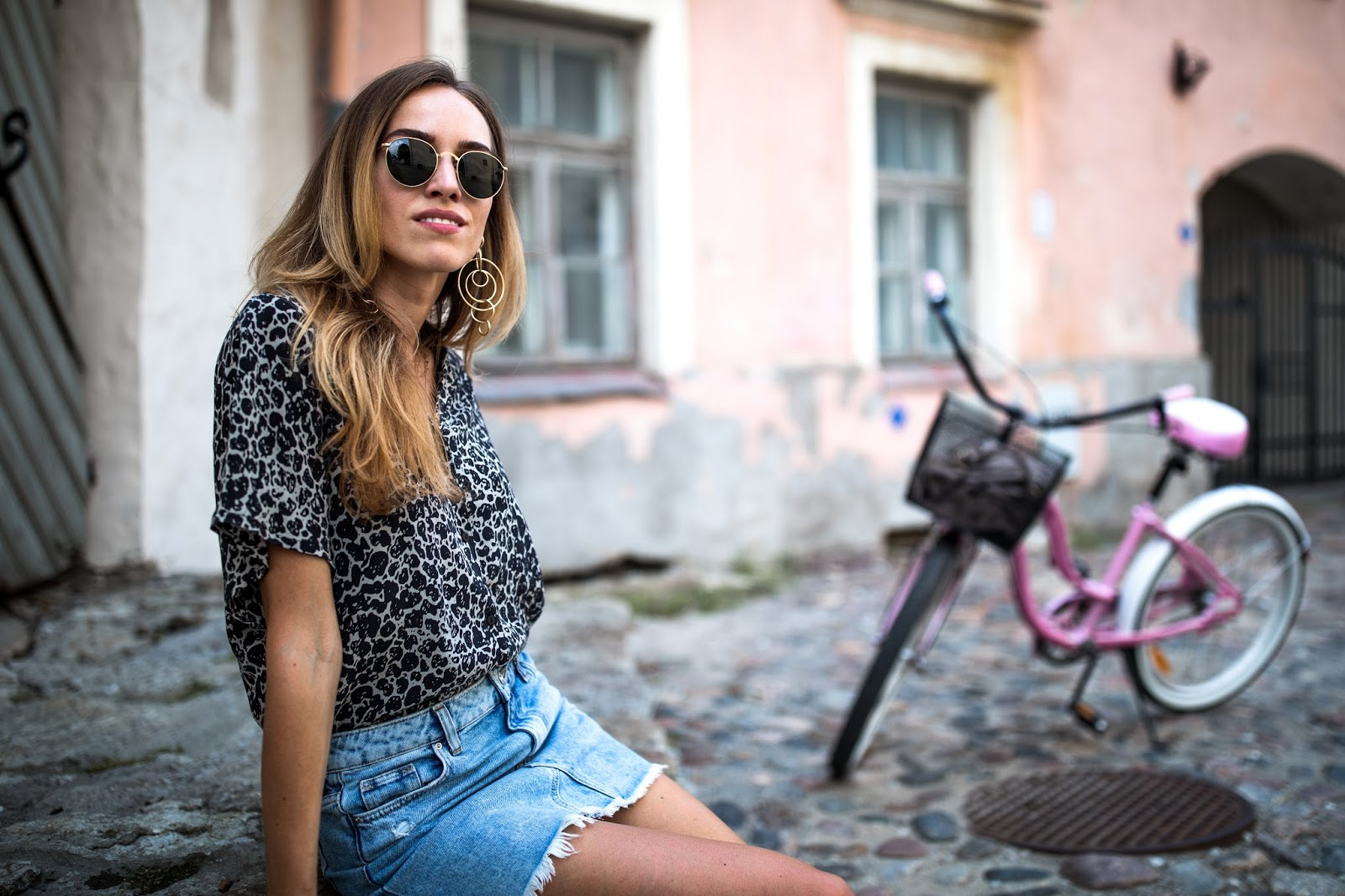 leopard print shirt outfit