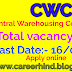 CWC (571)  Central warehousing Corporation 2019 vacancy apply now