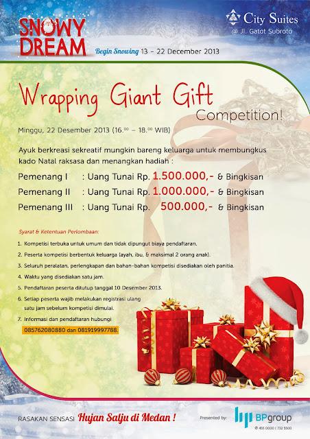 Hujan Salju di Medan - Wrapping Giant Gift Competiton https://www.ceritamedan.com/