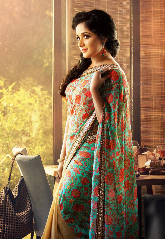 Actress Kavya Madhavan Latest Saree Photos