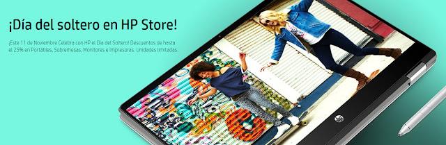 Mejores ofertas promoción Día del soltero en HP Store