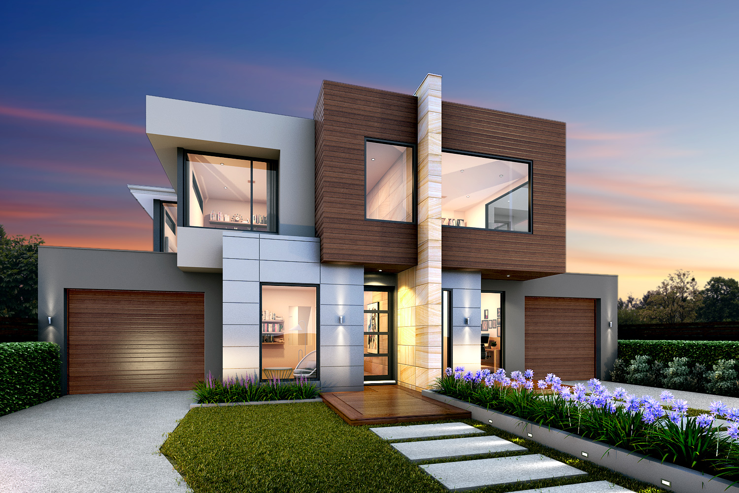 50 Contemporary Two Storey Exterior Design Ideas