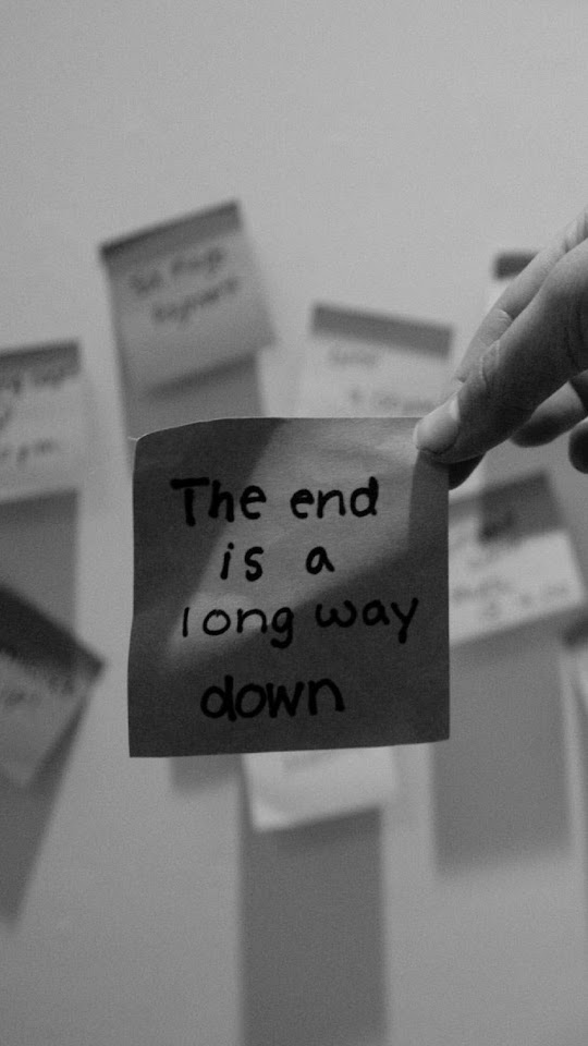 The End Is A Long Way Down   Galaxy Note HD Wallpaper