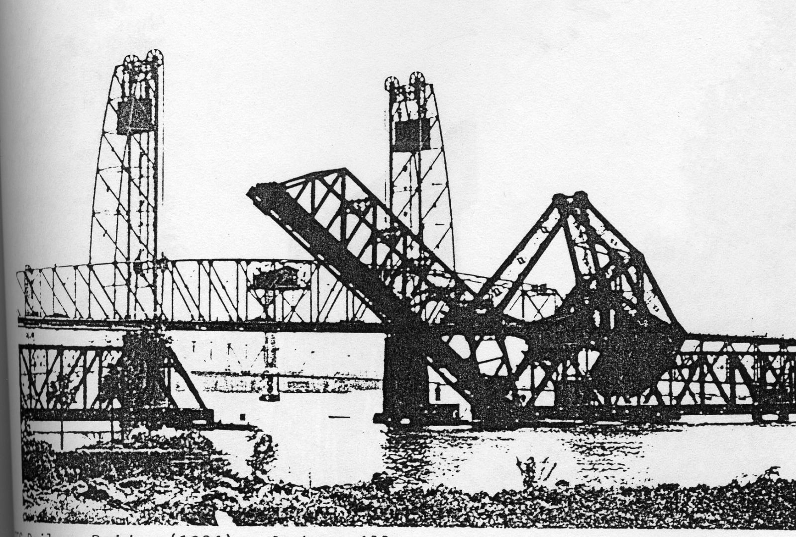 Industrial History Fec 1925 Bridge Over St Johns River In Truss Diagram Information About Warren Bridges Photo Cleveland State University Library Photograph Collection From Hunter