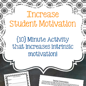 intrinsic motivation for middle school students Nurturing intrinsic motivation in students  and experiencing a sense of accomplishment during every school day for example, if a middle school student is most .