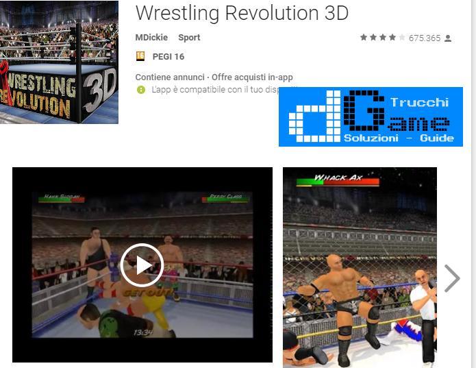 Trucchi Wrestling Revolution 3D Mod Apk Android v1.590