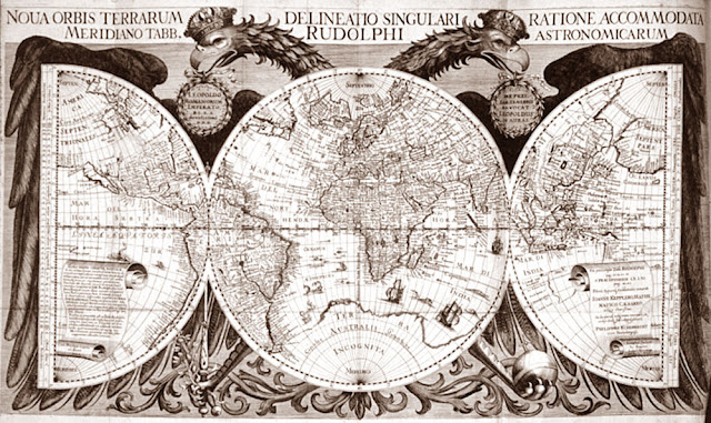 Gambar Peta dunia oleh Yohanes Kepler