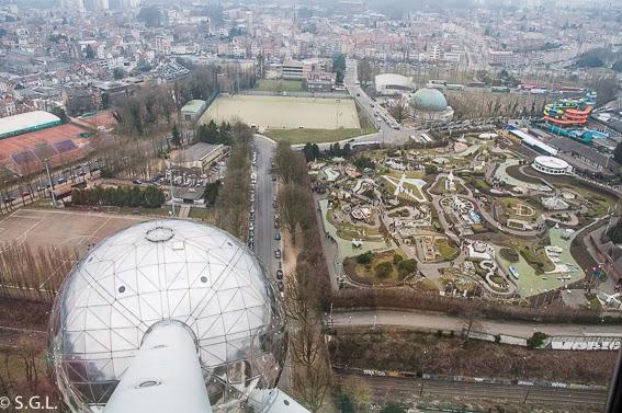 Panoramica desde el Atomium de Bruselas
