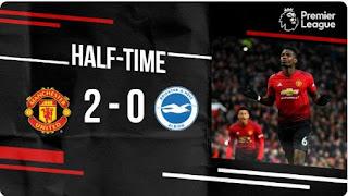 HT: Manchester United vs Brighton 2-0 Highlights