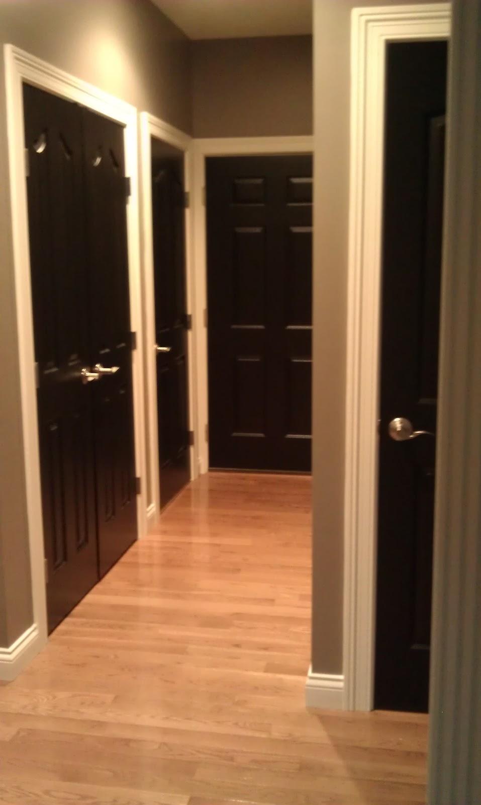 Alas 3 Lads: Interior Doors Painted Black