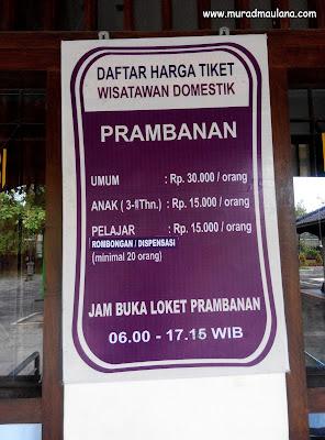 Harga Tiket Wisatawan Domestik
