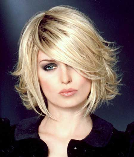 Pointy Blonde Bob Hairstyle