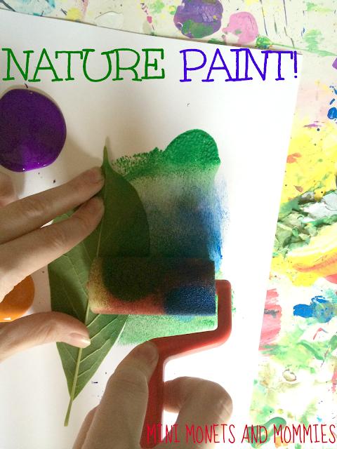 Plant art activity for kids