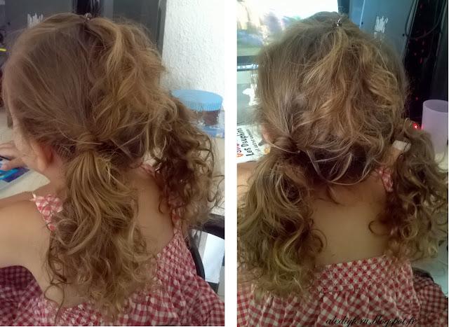 coiffure simple petite fille pour ecole