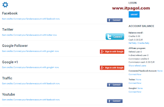 Connect your real Facebook, Twitter and Google+ Account.