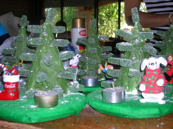 Telgopor centro de mesa for Manualidades souvenirs navidenos