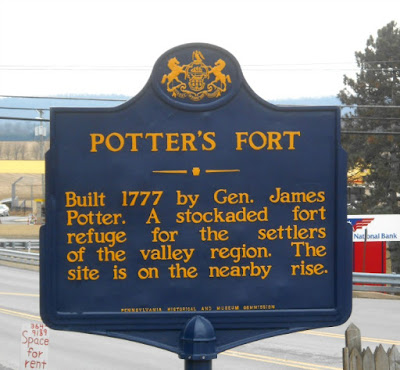 Potter's Fort Historical Marker in Centre Hall Pennsylvania