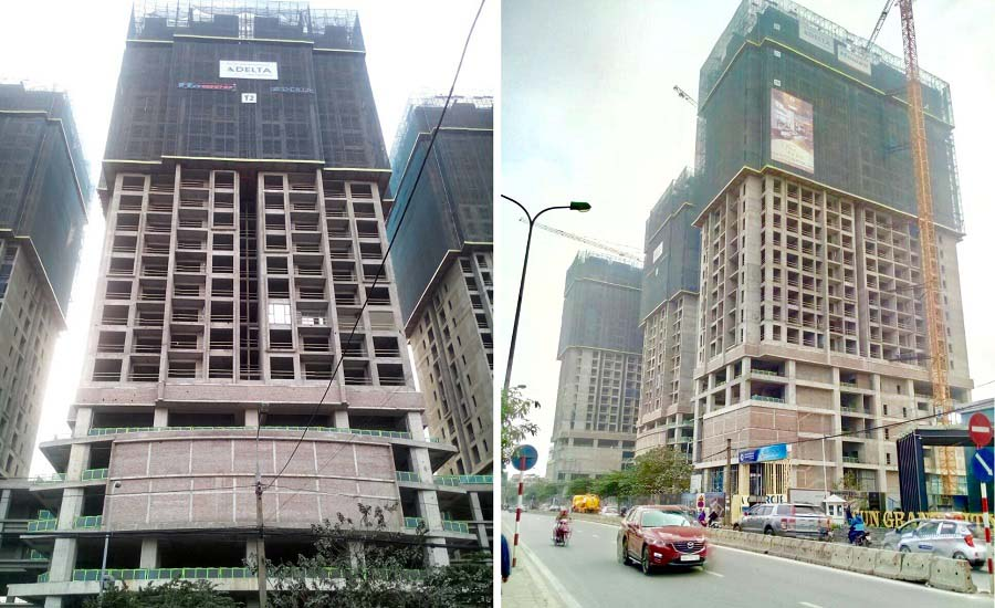 Tiến độ thi công dự án Sun Group Lương Yên tháng 1/2018