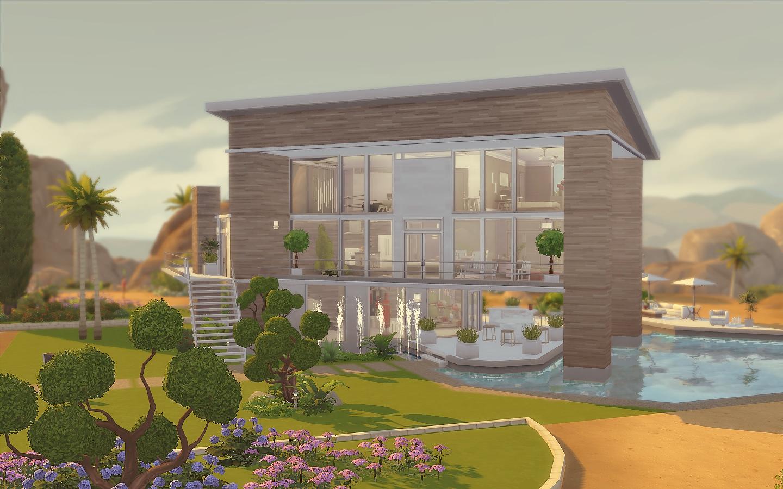 My Sims 4 Blog: Modern House - No CC by Via Sims