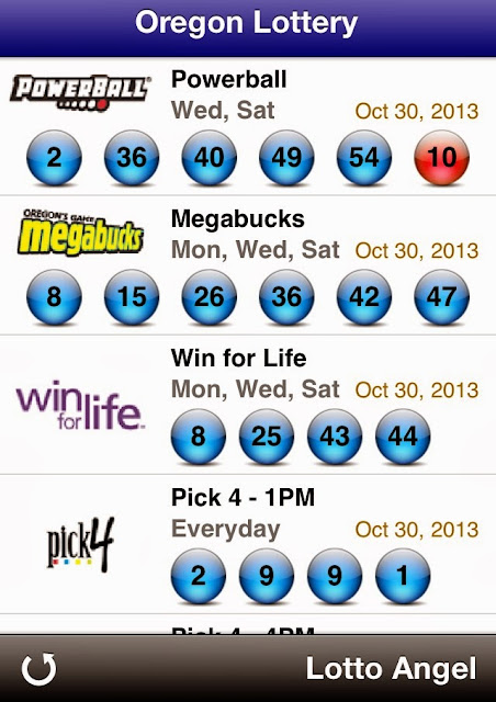 USA Oregon Lottery Results (Oct 30, 2013)