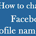 Changing Facebook Name
