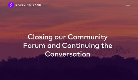 Fermeture du forum de Starling Bank