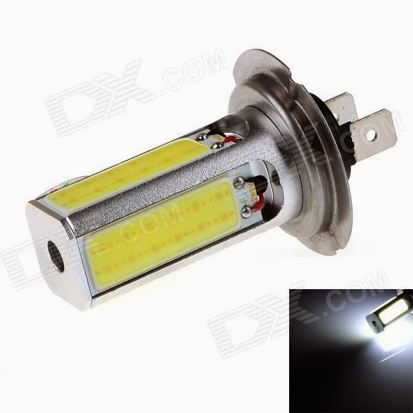 kit 2 pezzi lampade lampadine led h7 cob 30w luci diurne