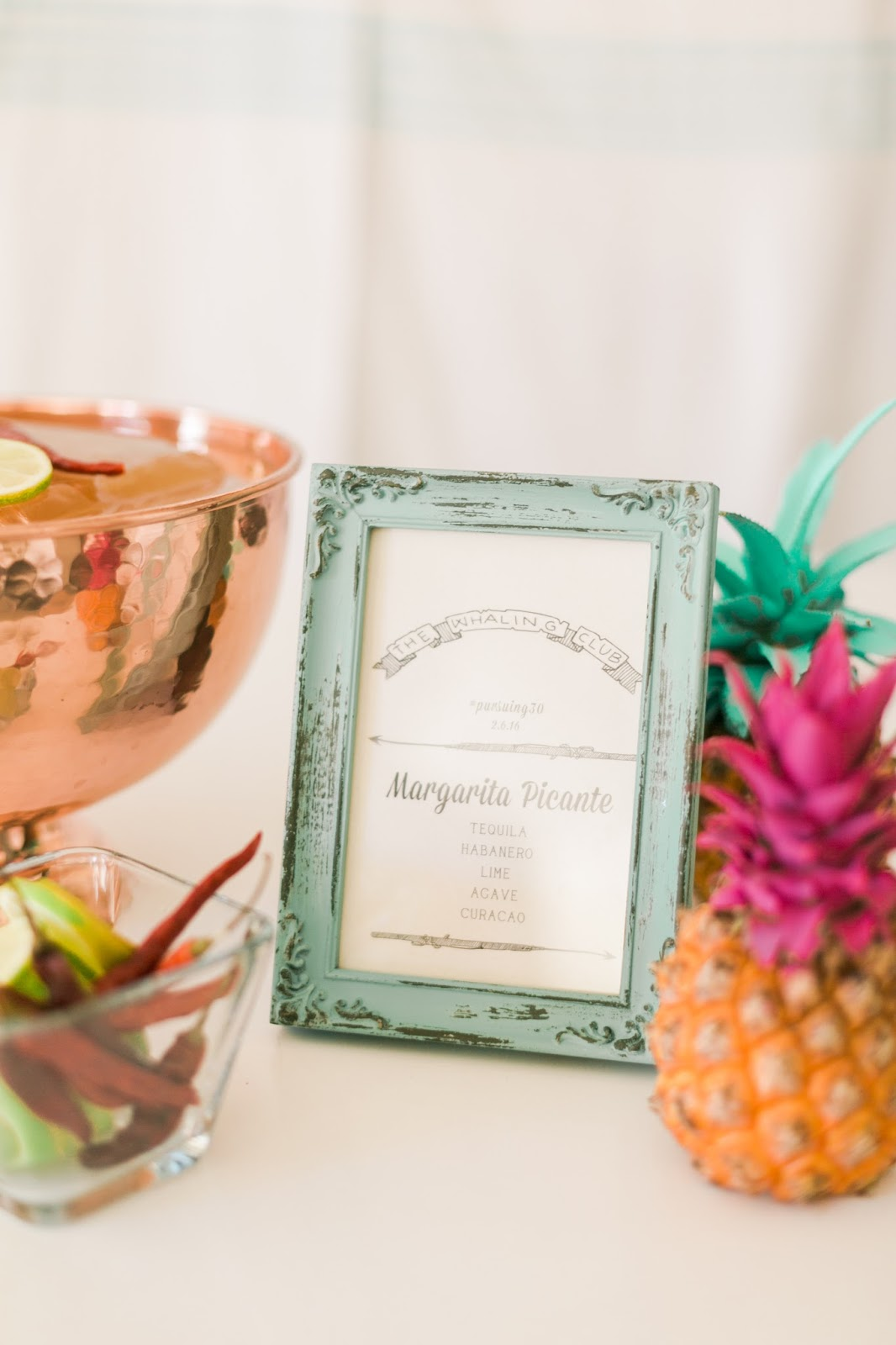 spicy margarita recipe, the whaling club, palm springs pool party idea