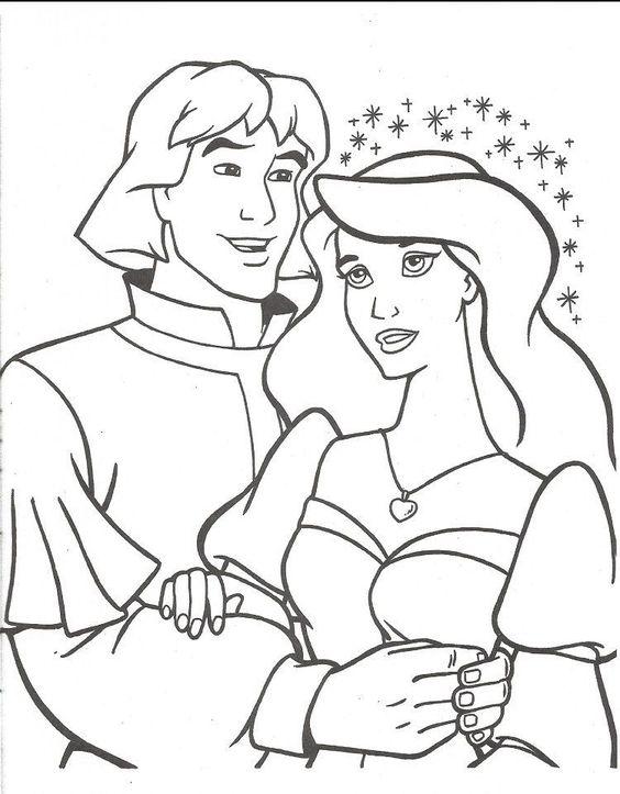 Tranh tô màu công chúa thiên nga