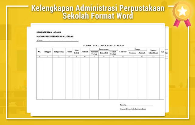 Kelengkapan Administrasi Perpustakaan Sekolah Format Word