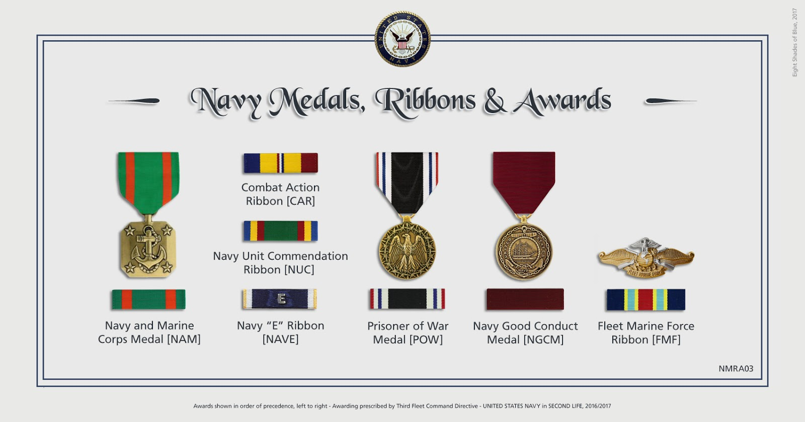 N A S  Miramar NFWS / SL: Medals and Awards of Third Fleet - Navy