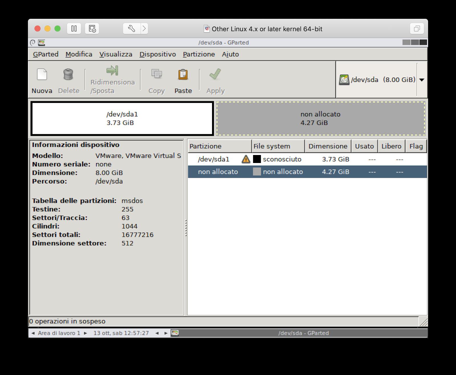 Come installare GParted su macchina virtuale