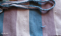 two purple shades from logwood, blue from indigo