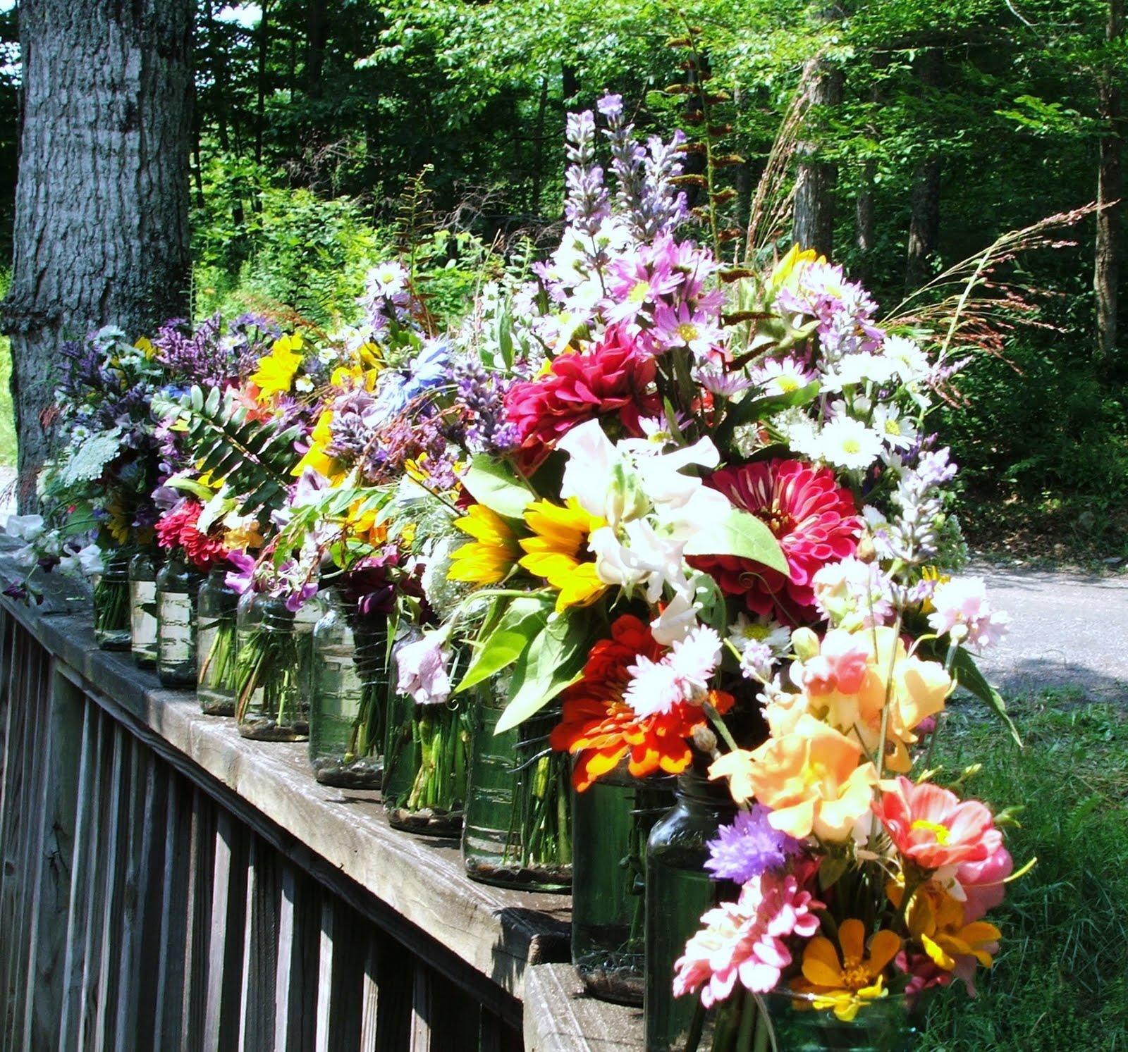 Flowers In Jars Wedding: Adirondack Flower Farm: Mason Jar Flowers