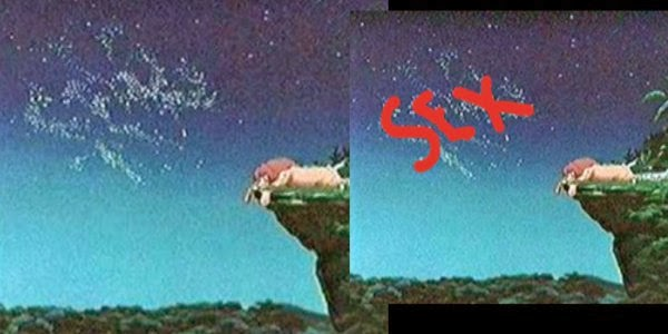 Image result for Sex in the sky of The Lion King?