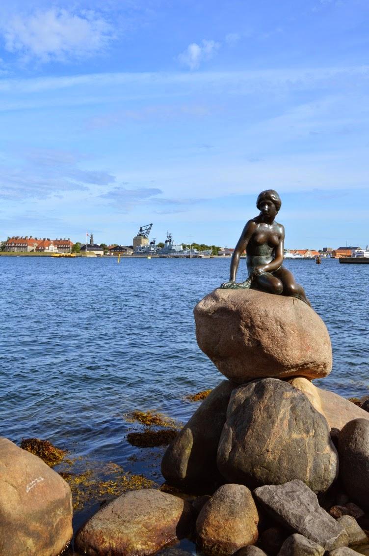 little mermaid, hans christian andersen, copenhagen, kodaň, denmark, dánsko, statue, sea, ocean