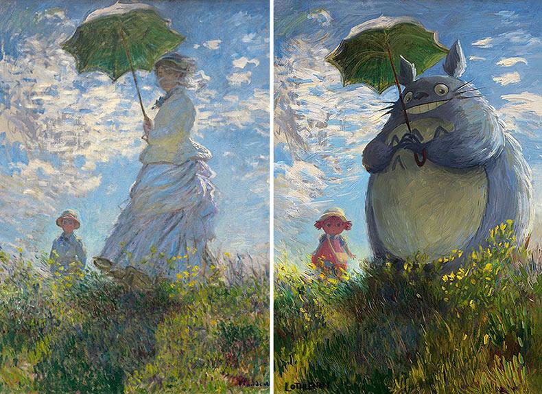 Artista transforma pinturas clásicas en asombroso arte de fantasía