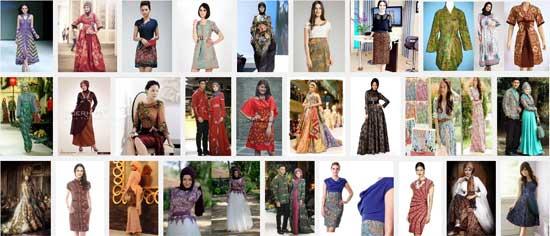 Model Dres Batik Pesta Modern Elegan