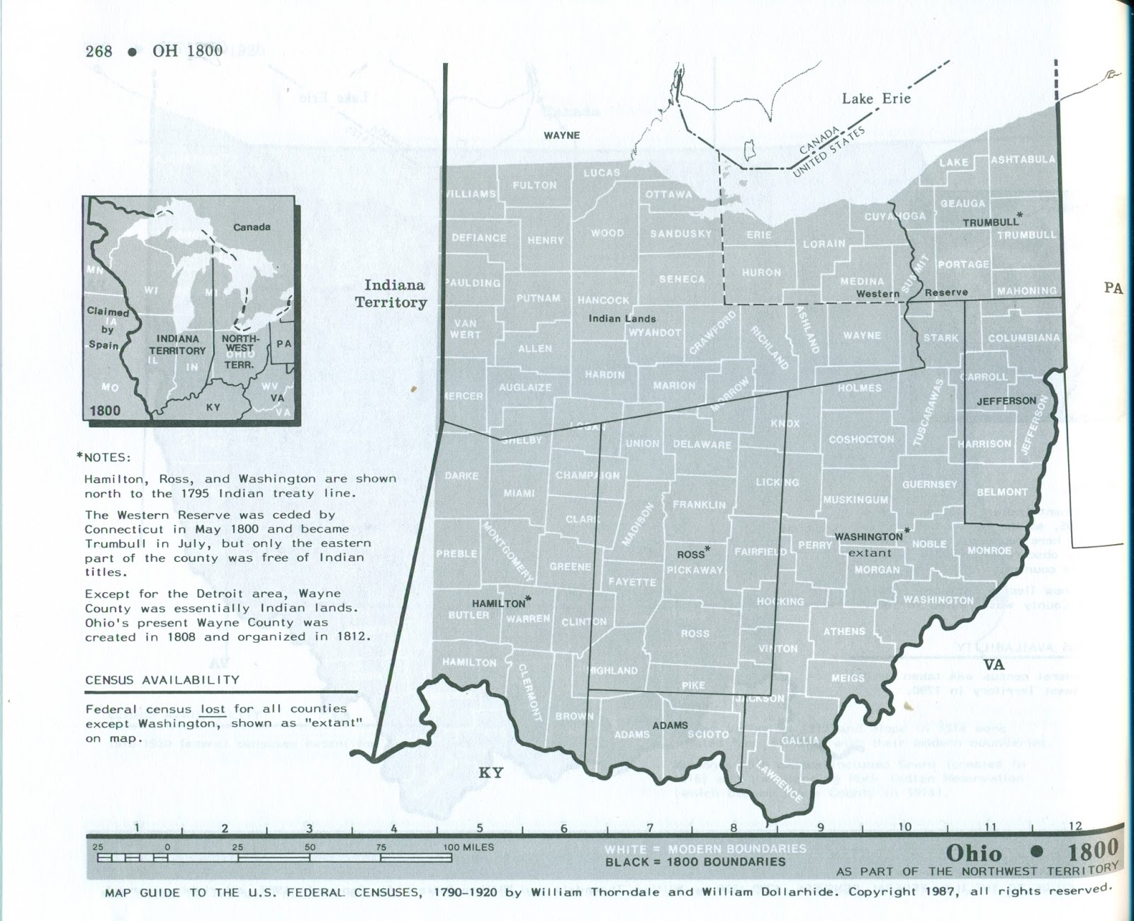 each map with the earlier county boundaries super imposed on them as shown in the example of ohio in 1800 below most libraries especially genealogy