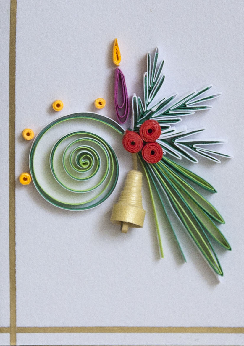 neli quilling art quilling small cards  christmas 8