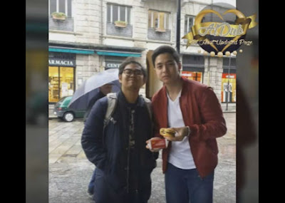 Alden still approved to take photos while he's eating