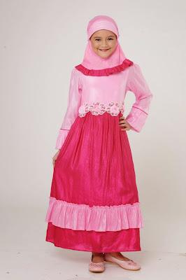 Model Baju Muslim Dannis Brokat Anak Perempuan Terbaru