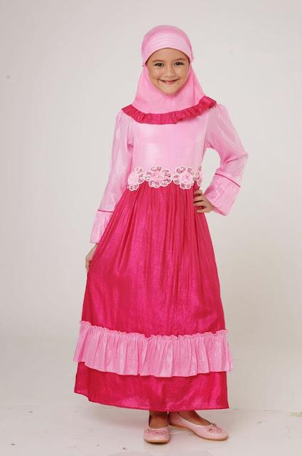 Dress Muslim Anak Perempuan Terbaik 2015
