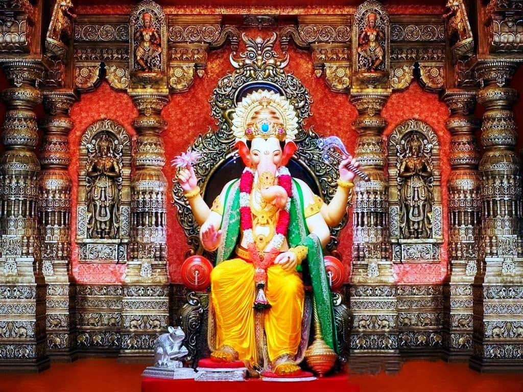 Shani Name 3d Wallpaper Lalbaugcha Raja Hd Wallpapers Hindu God Wallpaper