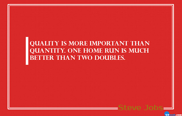 One home run is much better than two doubles Steve Jobs Quotes