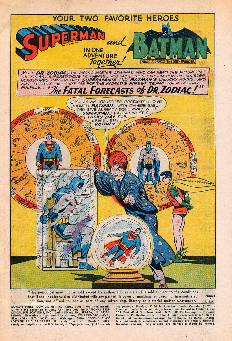 Read online World's Finest Comics comic -  Issue #160 - 3