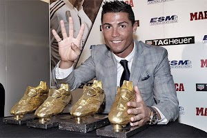 Record-breaker: Cristiano Ronaldo got the fourth Golden boot award