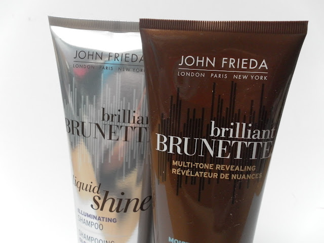 A picture of Brilliant Brunette Liquid Shine Illuminating Shampoo and Brilliant Brunette Multi-Tone Revealing Moisturising Conditioner
