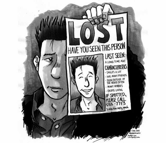 depression feel lost comic